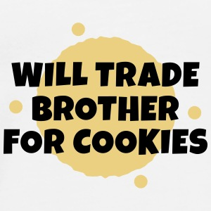 Will trade brother for cookies Väskor & ryggsäckar - Premium-T-shirt herr