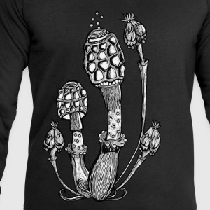 Champignons, Magic Mushrooms, psychédélique, goa Tee shirts - Sweat-shirt Homme Stanley & Stella