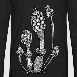 Magic Mushrooms, Hongos, setas mágicas, goa, rave Camisetas - Camiseta de manga larga premium hombre