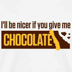 Give me chocolate. Then I am also friendly!  Aprons - Men's Premium T-Shirt
