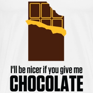 Give me chocolate. Then I am also friendly! Other - Men's Premium T-Shirt