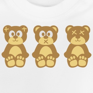 Three wise monkeys teddy bears Shirts - Baby T-Shirt