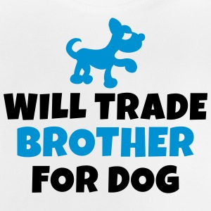 Will trade brother for dog Tröjor - Baby-T-shirt