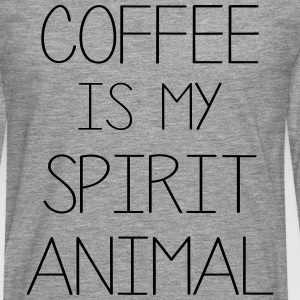 Coffe Is My Spirit Animal T-Shirts - Men's Premium Longsleeve Shirt