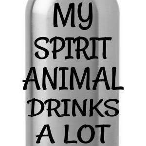 My Spirit Animal Drinks Animal T-Shirts - Water Bottle