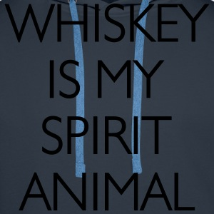 Whisky Is My Spirit Animal T-Shirts - Men's Premium Hoodie