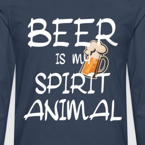 Beer Is My Spirit Animal T-Shirts - Men's Premium Longsleeve Shirt