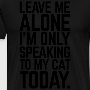 Only Speaking To My Cat Kookschorten - Mannen Premium T-shirt