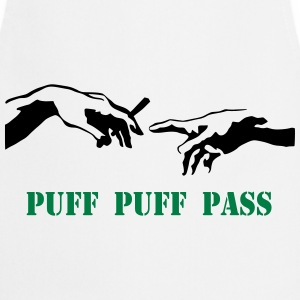 Puff Puff Pass Stencil T-Shirts - Cooking Apron