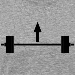 Lift heavy things Sportkläder - Premium-T-shirt herr