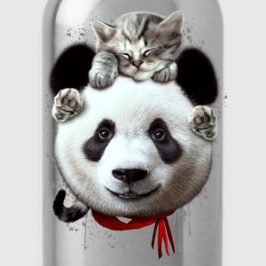 CAT ON PANDA - Water Bottle