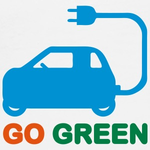 GO GREEN ~ DRIVE ELECTRIC CARS Caps & Hats - Men's Premium T-Shirt