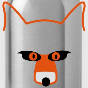 fox head Long sleeve shirts - Water Bottle