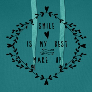 SMILE IS MY BEST MAKE UP T-skjorter - Premium hettegenser for menn