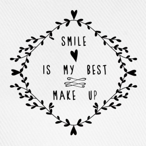 SMILE IS MY BEST MAKE UP Topper - Baseballcap