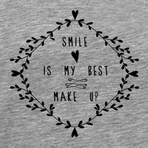 SMILE IS MY BEST MAKE UP Toppe - Herre premium T-shirt