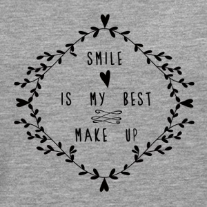 SMILE IS MY BEST MAKE UP Tops - Camiseta de manga larga premium hombre