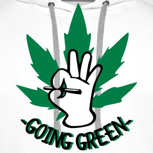 Going Green T-Shirts - Men's Premium Hoodie