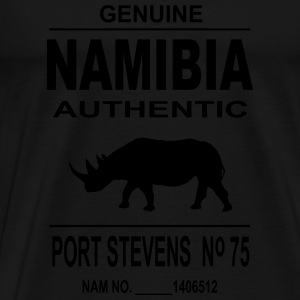 Namibia Rhino Manches longues - T-shirt Premium Homme