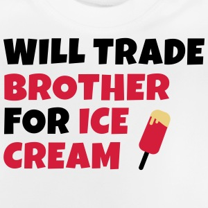 Will trade brother for ice cream negociará a hermano para helados Sudaderas - Camiseta bebé