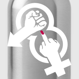 Fuck off, violence against women! Kuscheltiere - Trinkflasche