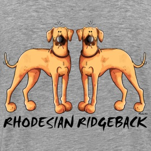Two Rhodesian Ridgeback Hoodies & Sweatshirts - Men's Premium T-Shirt
