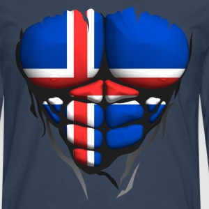 Iceland flag torso body muscled abdos T-Shirts - Men's Premium Longsleeve Shirt