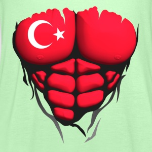 Turkey flag torso body muscled abdos T-Shirts - Women's Tank Top by Bella