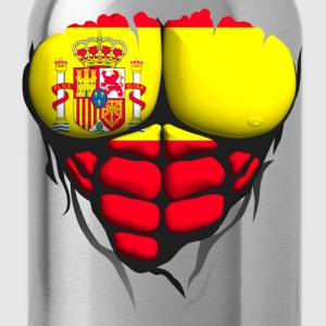 Spain flag torso body muscle abdos T-Shirts - Water Bottle