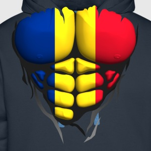 Romania flag torso body muscled abdos T-Shirts - Men's Premium Hoodie