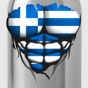 Greece flag torso body muscled abdos T-Shirts - Water Bottle
