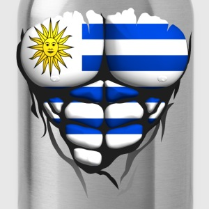 uruguay flag torso body muscle abdos T-Shirts - Water Bottle