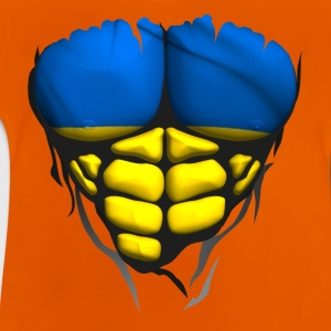 ukraine flag torso body muscled abdos Shirts - Baby T-Shirt