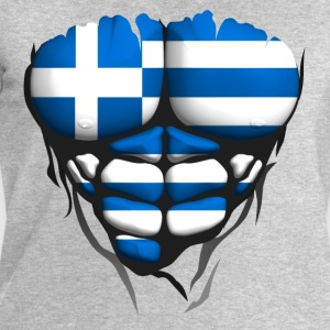 Greece flag torso body muscled abdos Shirts - Men's Sweatshirt by Stanley & Stella