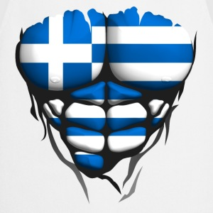 Greece flag torso body muscled abdos Shirts - Cooking Apron