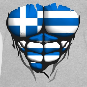 Greece flag torso body muscled abdos Shirts - Baby T-Shirt