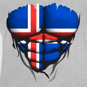 Iceland flag torso body muscled abdos Shirts - Baby T-Shirt
