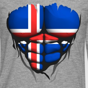 Iceland flag torso body muscled abdos Shirts - Men's Premium Longsleeve Shirt