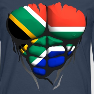 South Africa flag torso body muscle abdos Shirts - Men's Premium Longsleeve Shirt