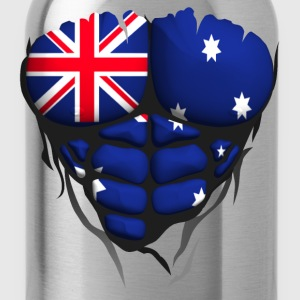 Australia flag torso body muscle abdos Shirts - Water Bottle