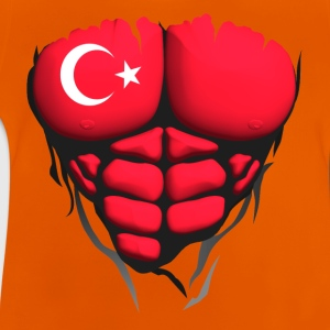 Turkey flag torso body muscled abdos Shirts - Baby T-Shirt