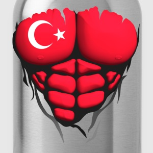 Turkey flag torso body muscled abdos Shirts - Water Bottle