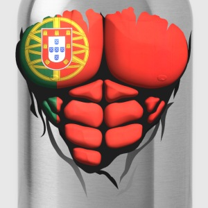 portugal flag torso body muscled abdos Shirts - Water Bottle