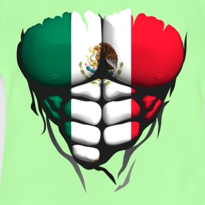 Mexico flag torso body muscled abdos Shirts - Baby T-Shirt