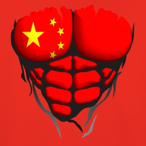 china flag torso muscled body abdominal Shirts - Kids' Premium Hoodie