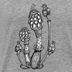 Magic Mushrooms, Design, Illustration, Goa, Trance Other - Men's Premium T-Shirt