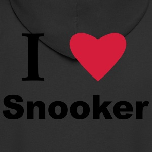 I Love Snooker T-Shirts - Men's Premium Hooded Jacket