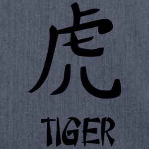 Tiger (Chinesisches Horoskop) T-Shirts - Schultertasche aus Recycling-Material