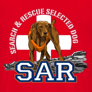 search and rescue dog 1 Sweaters - Mannen T-shirt