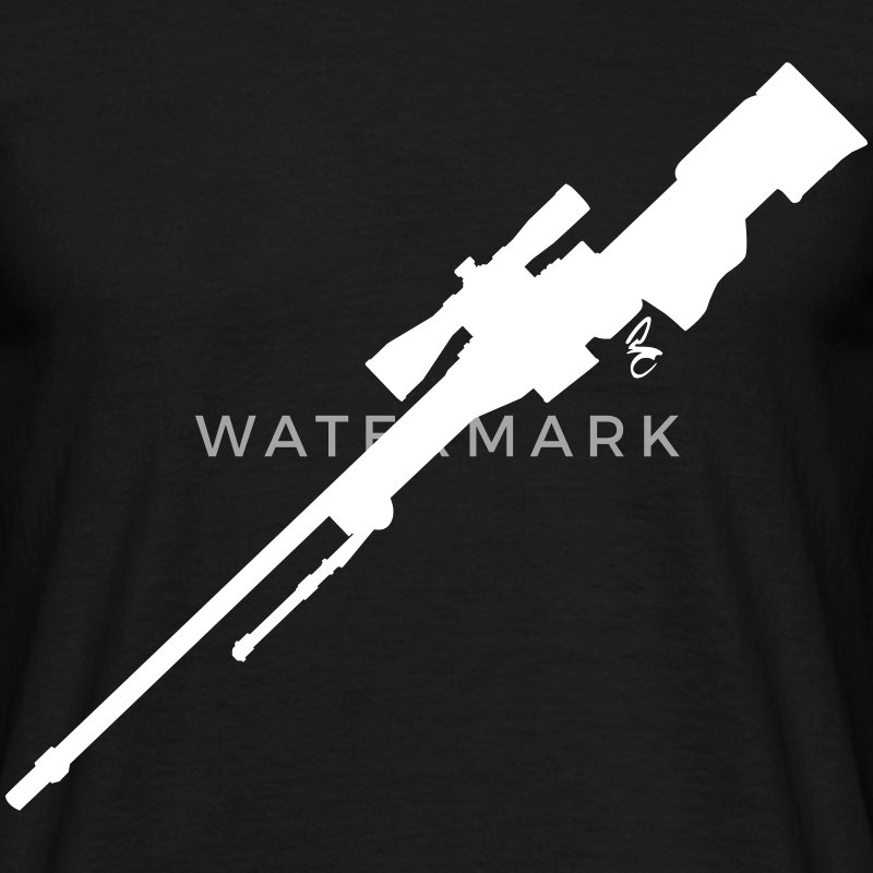 AWP Rifle Silhouette T-Shirts - Men's T-Shirt